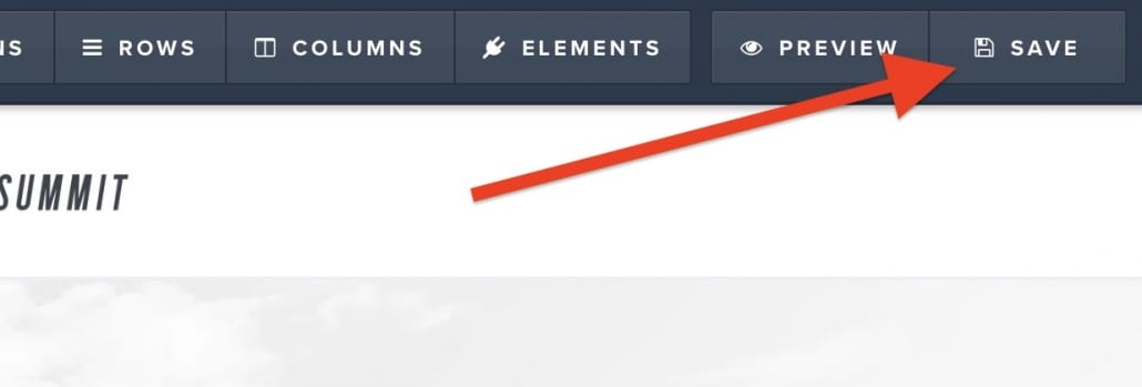 ClickFunnels page editor save button