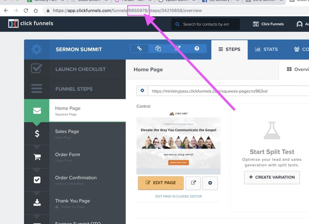 Click Funnel ID Screen Shot