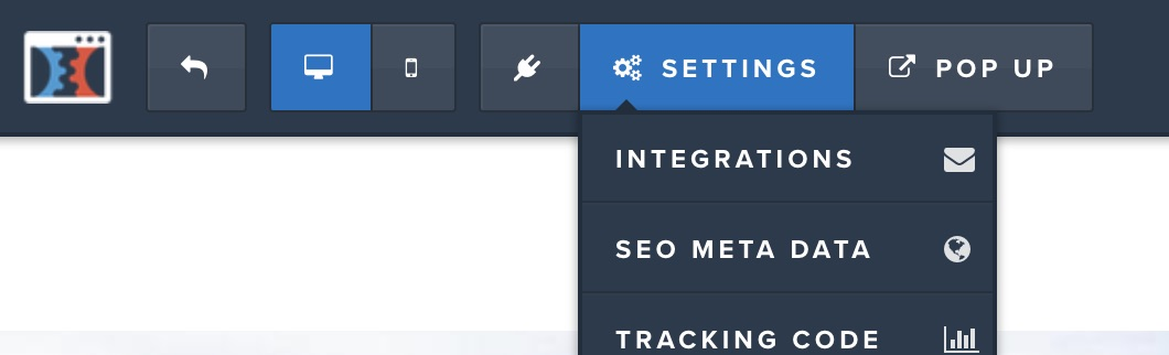 ClickFunnels Settings Integration Dropdown