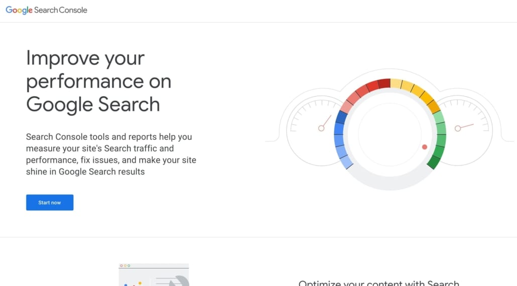 Google Search Console screenshot—improve your performance on Google Search