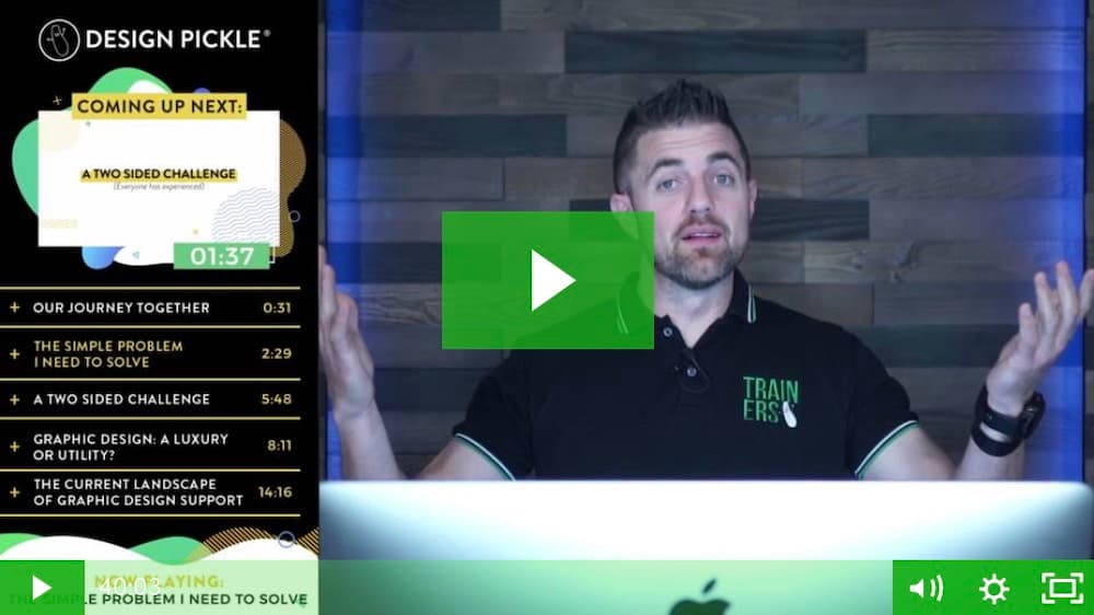 Website Screenshot — Design Pickle demo video with Founder Russ Perry.