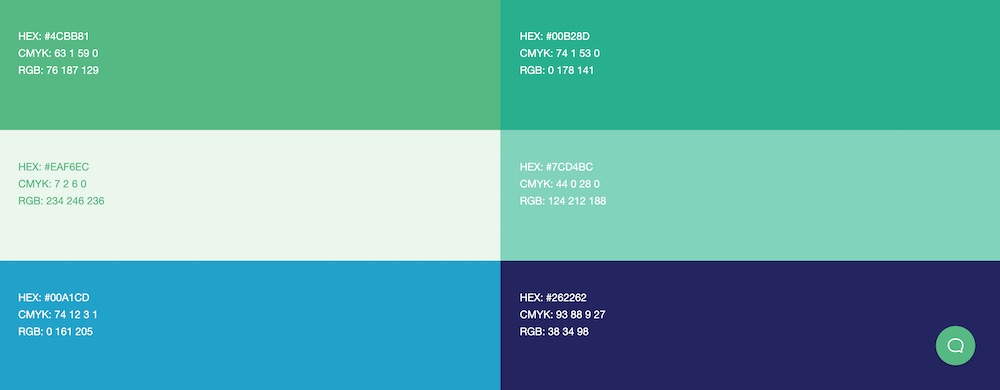 Six-option color palette for Campaign Donut.