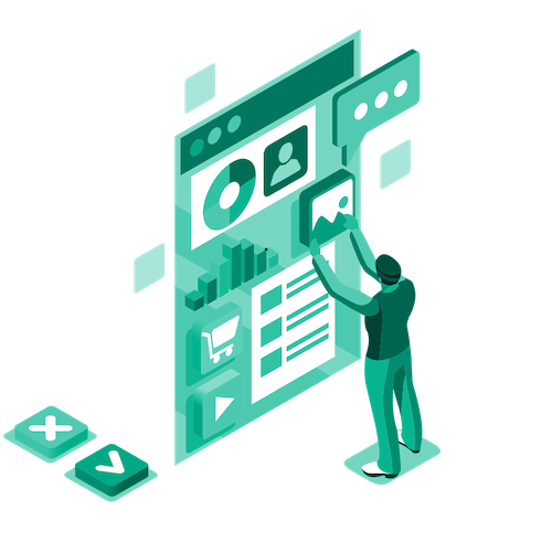 Isometric illustration webinar graphic icon image