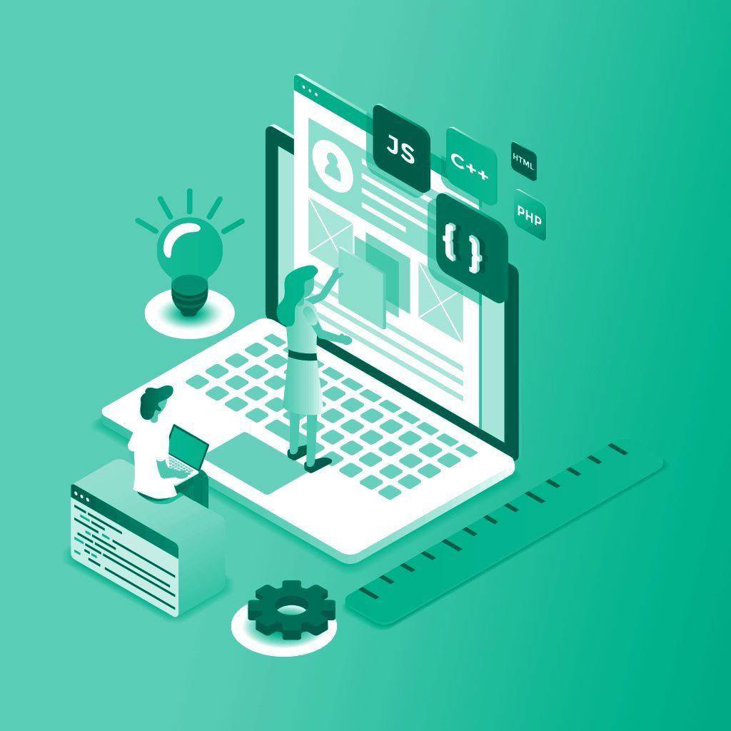 Web Utility Illustration — Custom Short URL Featured Image