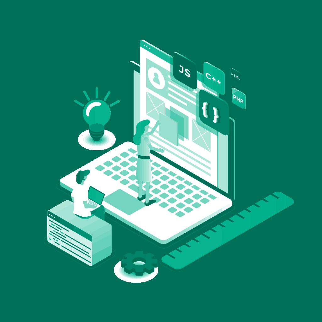 Web isometric illustration — Transparent Short URL Featured Image